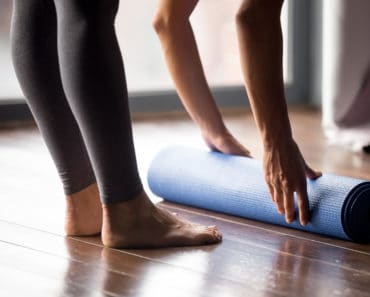 Yoga mat in yoga studio nov19