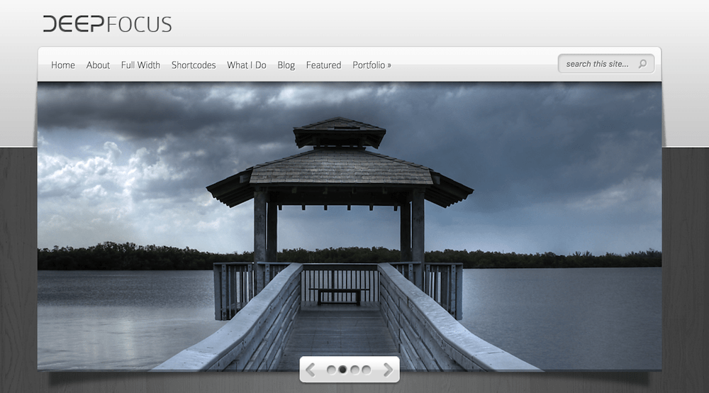 Deep Focus theme by Elegant Themes for Yoga Studio website