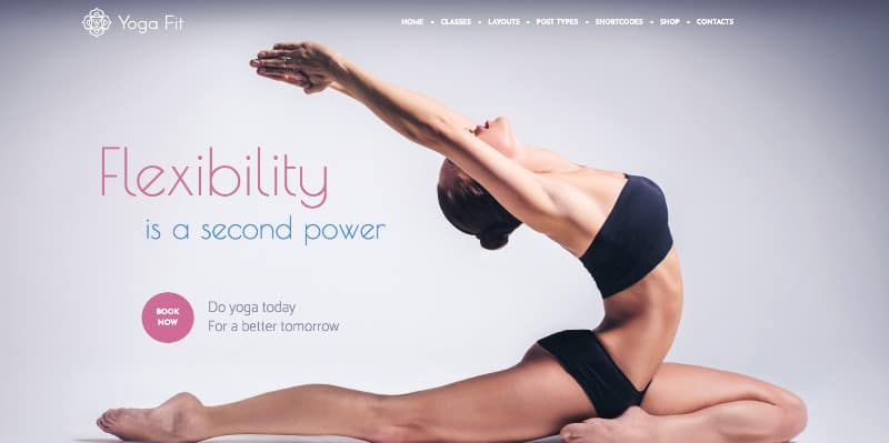Yoga Fit theme for yoga studio websites
