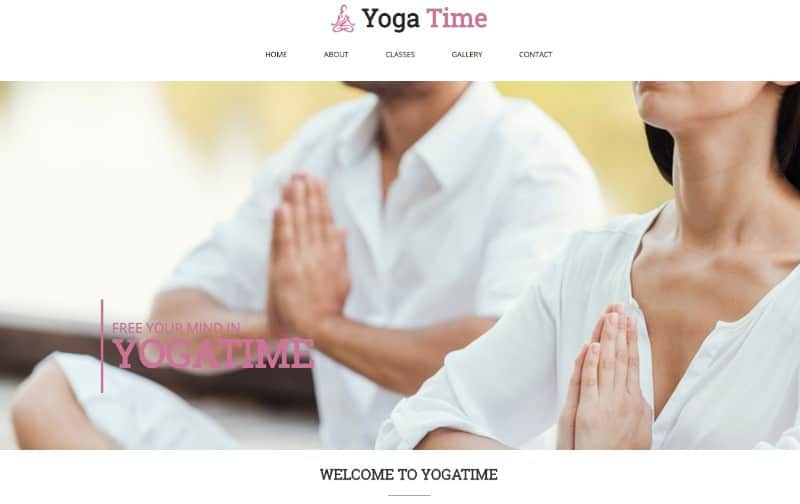 Yoga Time for yoga studio websites and blogs