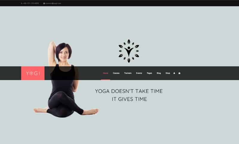 Yogi wp theme for yoga studios