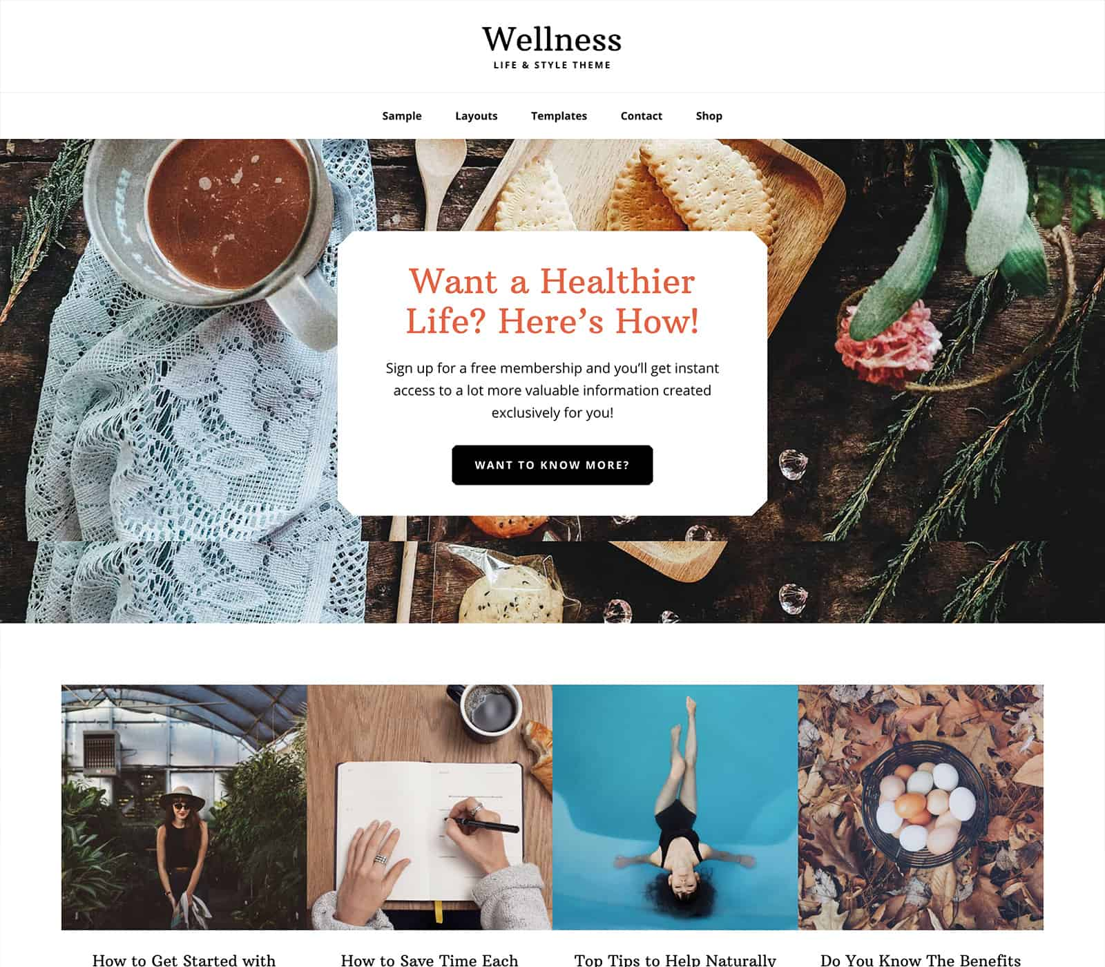 Wellness Pro theme by StudioPress for Yoga Studio Websites