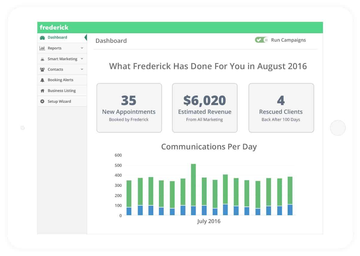 Frederick Revenue Dashboard