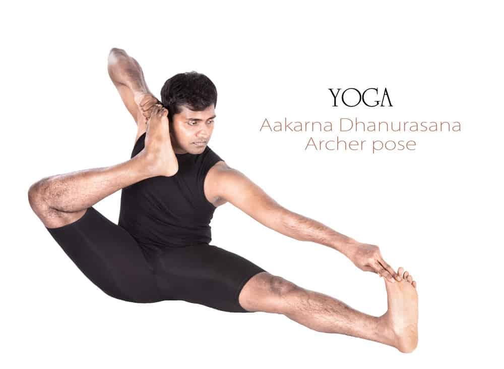 Archer pose - Akarm Dhanurasana