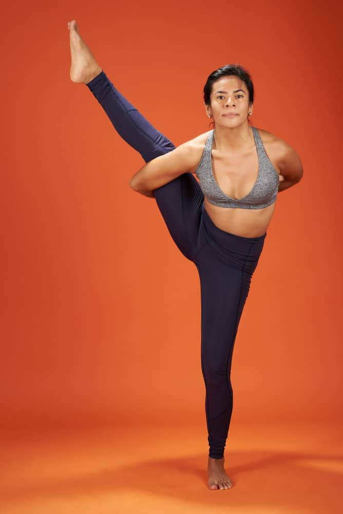 Bird of paradise pose - Svarga Dvidasana