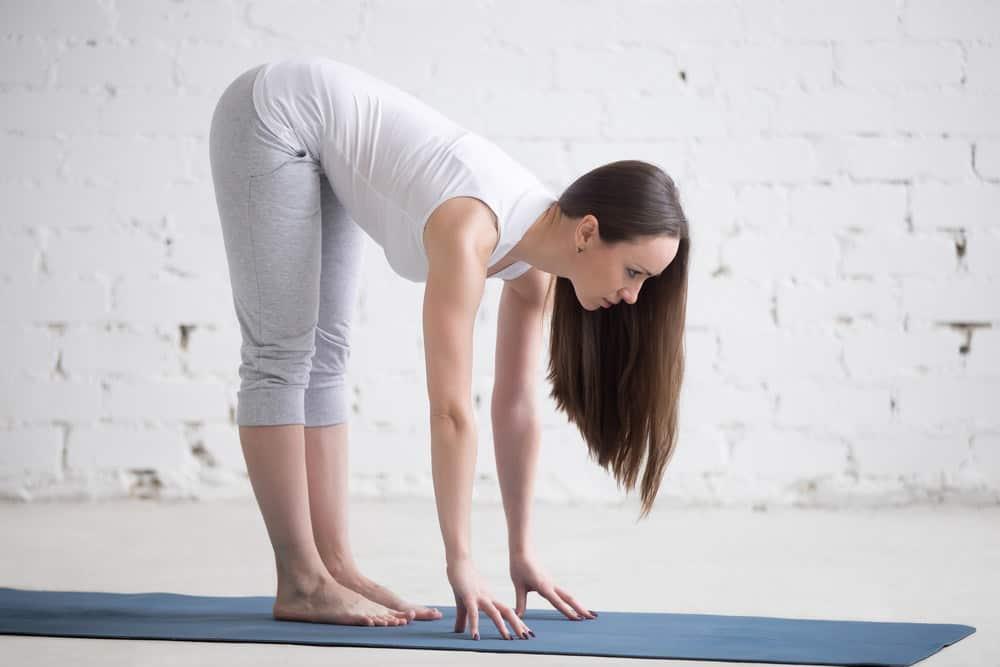 Half Standing Forward Bend - Ardha Uttanasana yoga pose