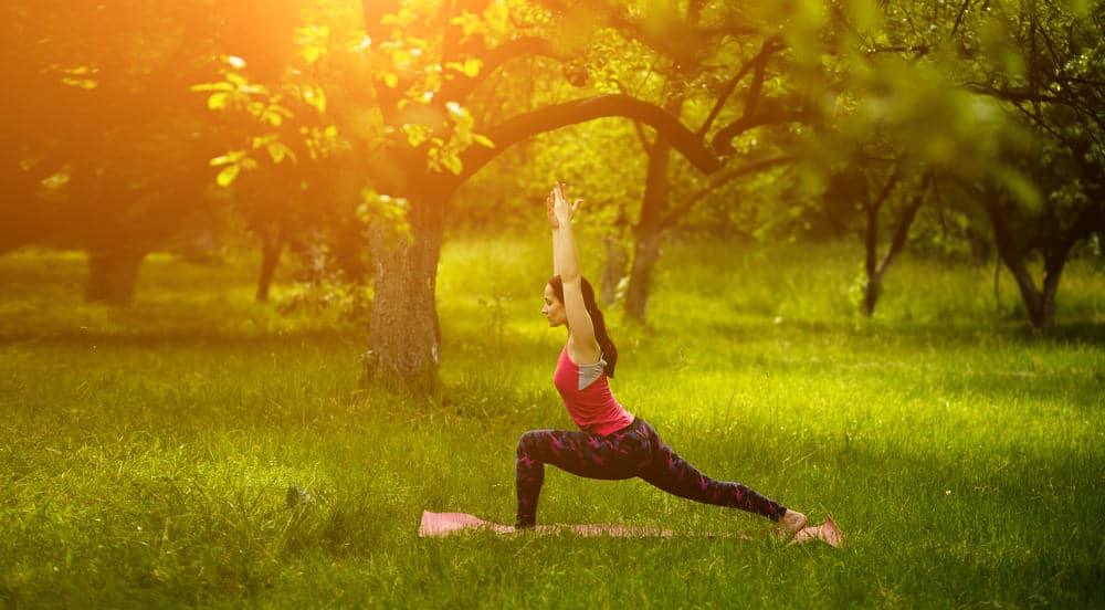 High lunge - Utthita Ashwa Sanchalanasana yoga pose