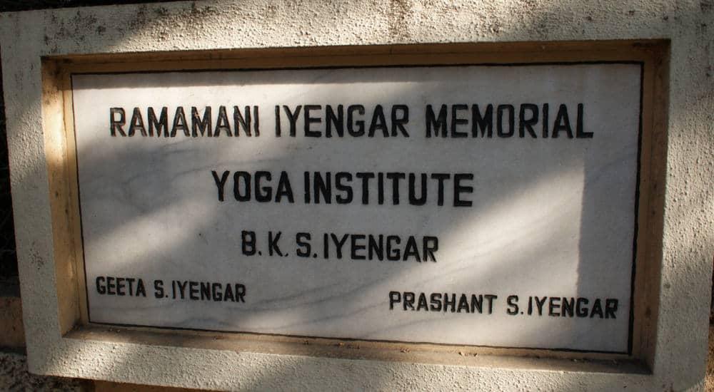 Iyengar Yoga Institute sign