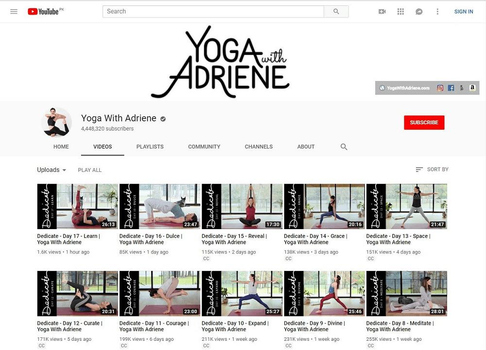 Yoga With Adriene videos
