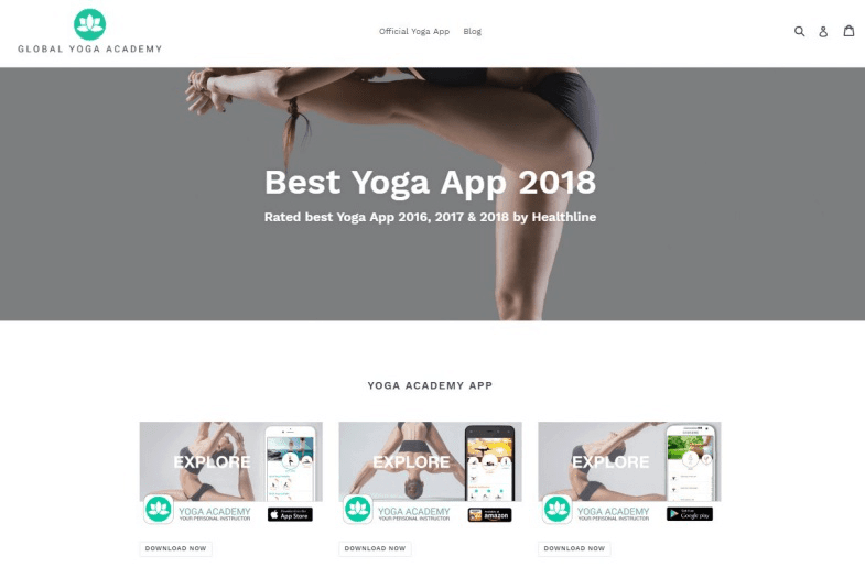 Global Yoga Academy application