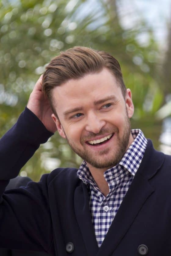 Justin Timberlake laughing out loud.
