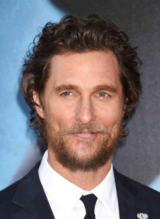 Mathew McConaughey with a Beard and Mustache