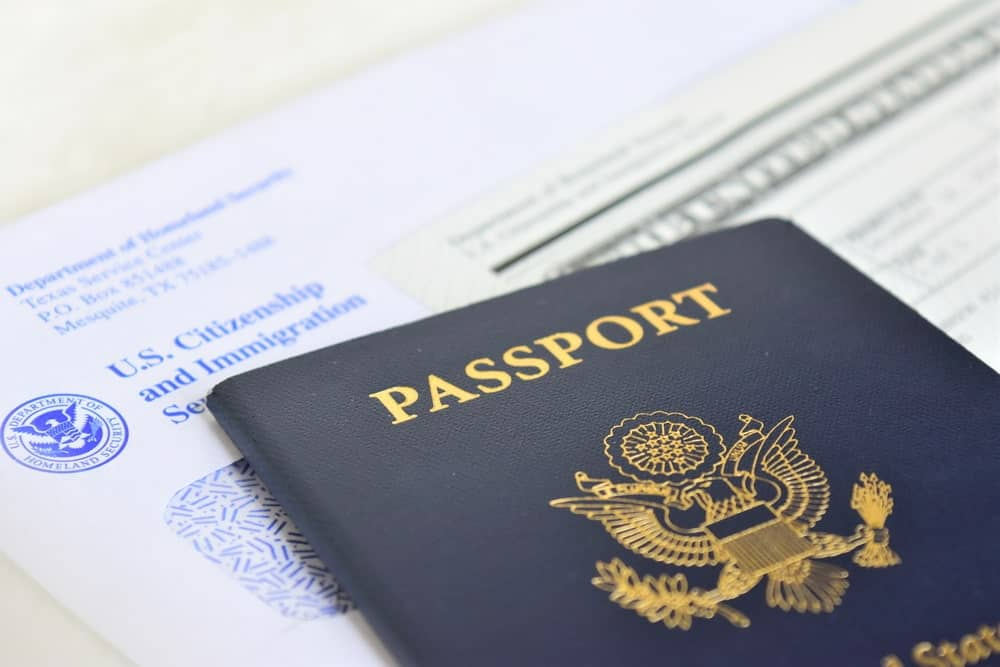 American passport and immigration documents