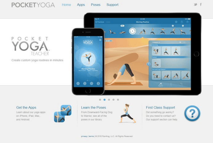 Pocket Yoga application