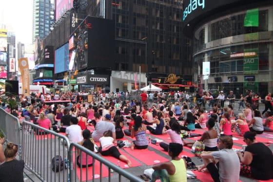 NYC Times Square Community Yoga Class