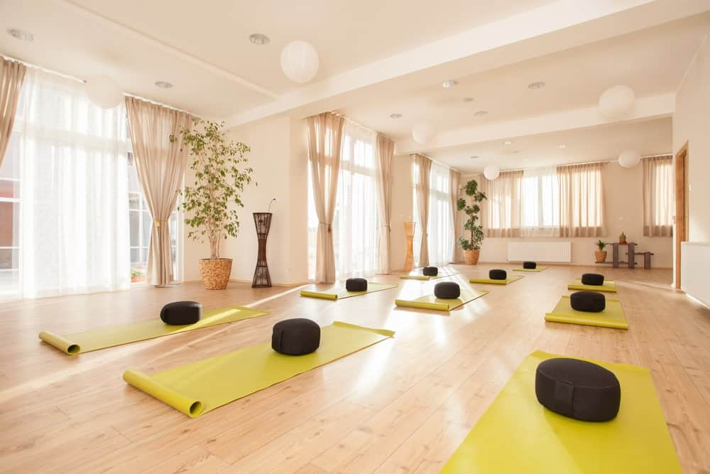 Yoga Studio with Yellow Yoga Mats