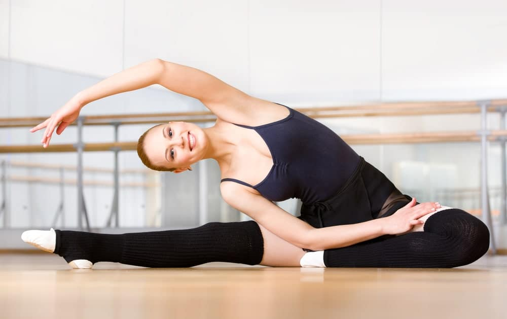Woman practicing ballet