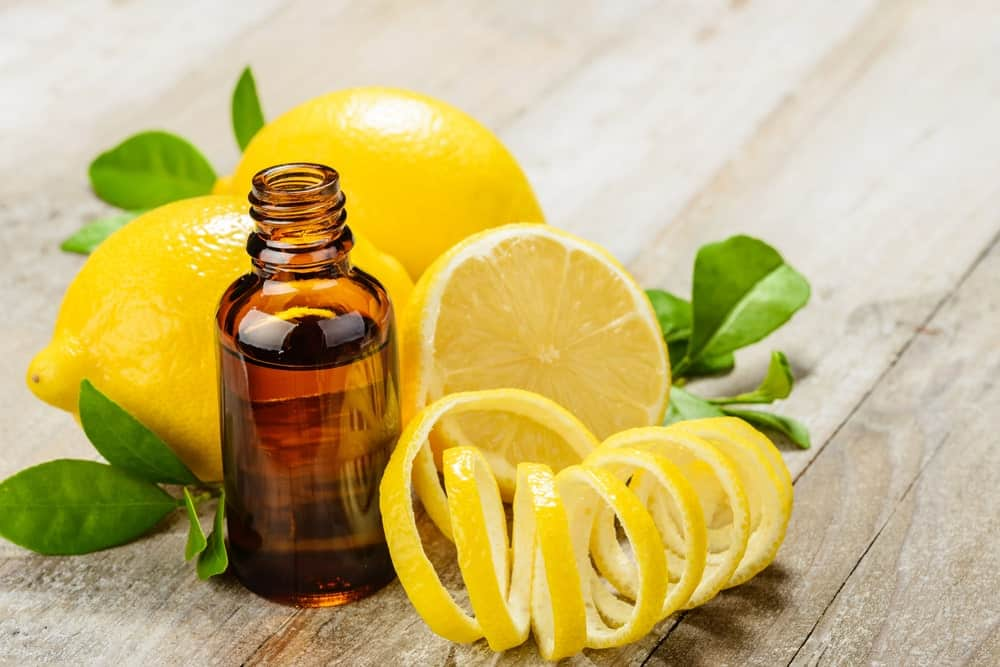 Essential Oil with lemons