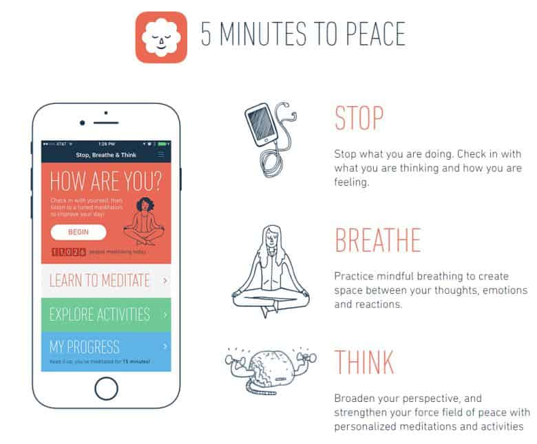 Stop, Breathe & Think – 5 minutes to peace