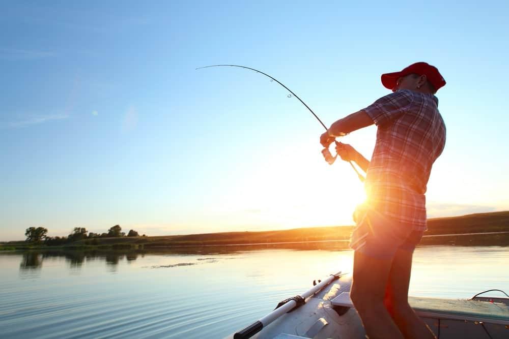 A Man Fishing Alone