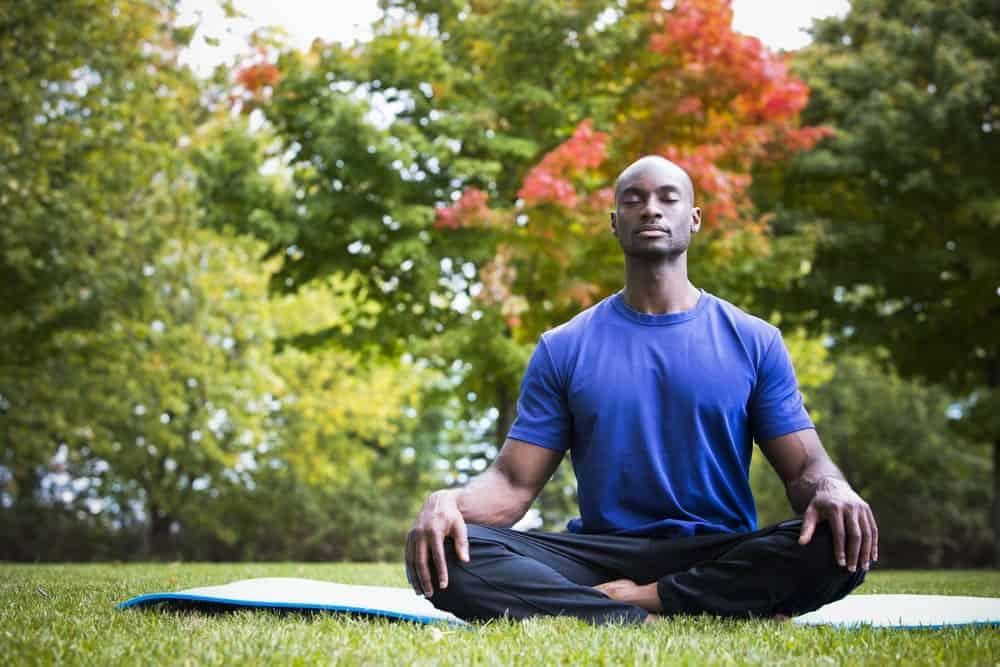 A Man Mediating Peacefully