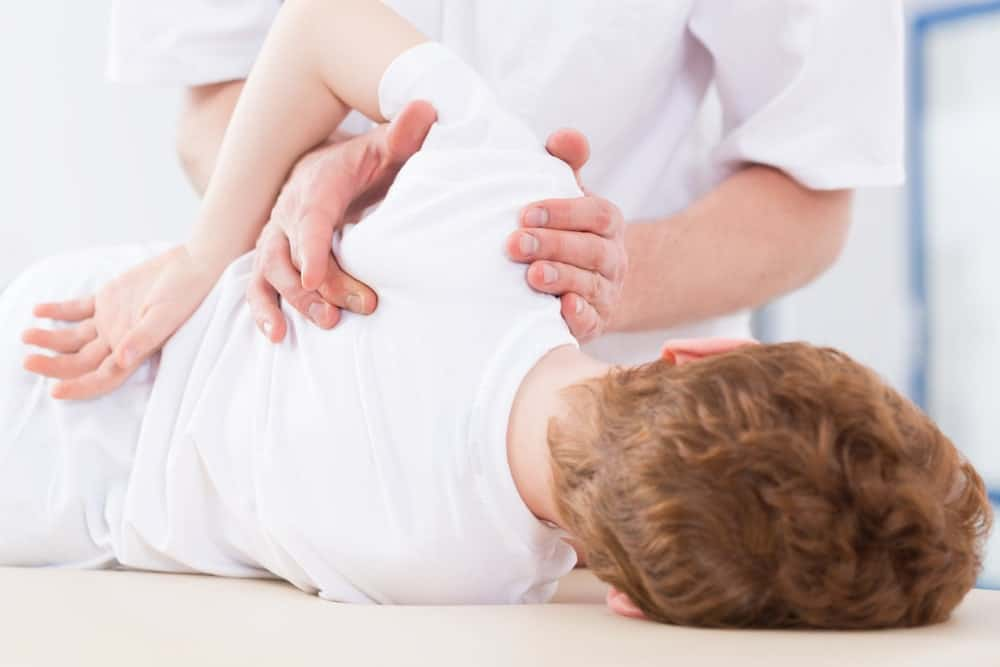 Physical therapy of a child