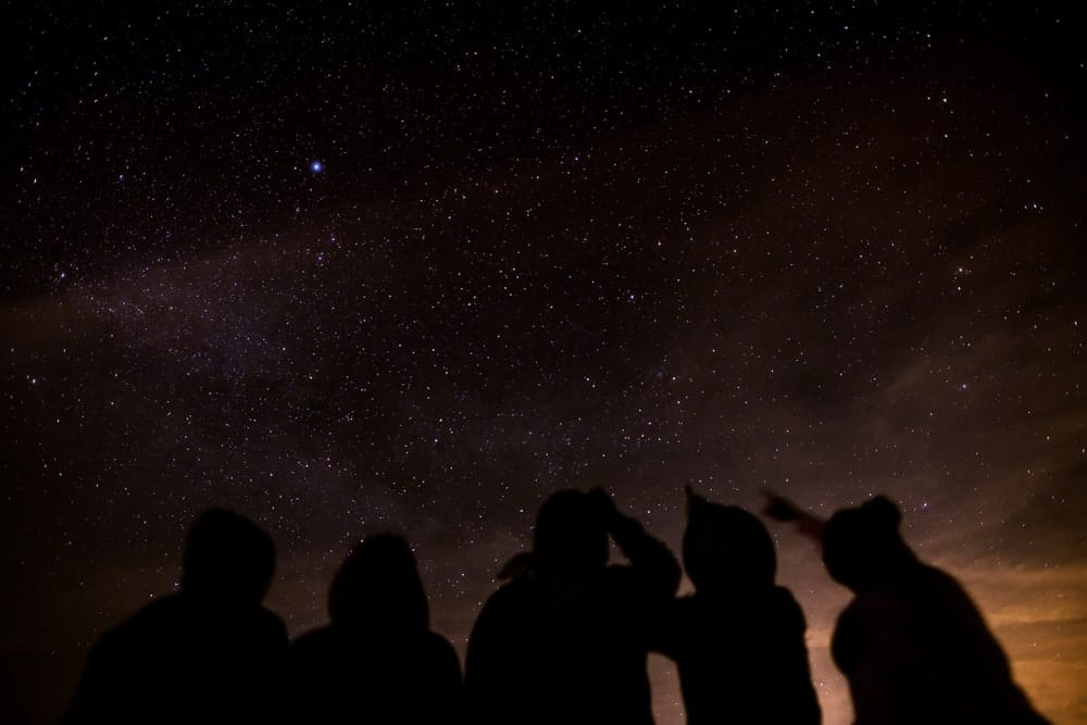 Many People Looking At the Starry Sky