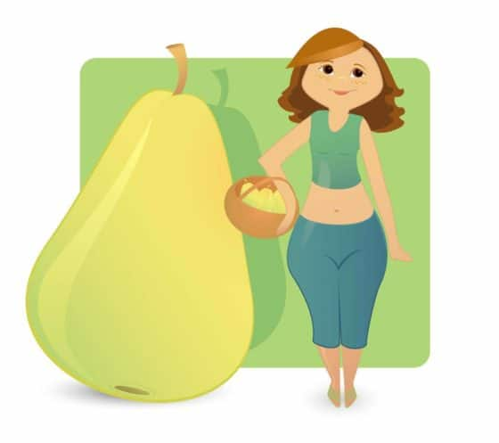 Illustration of an pear-shaped figure.