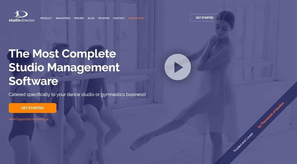 Screenshot of the yoga studio software The Studio Director.