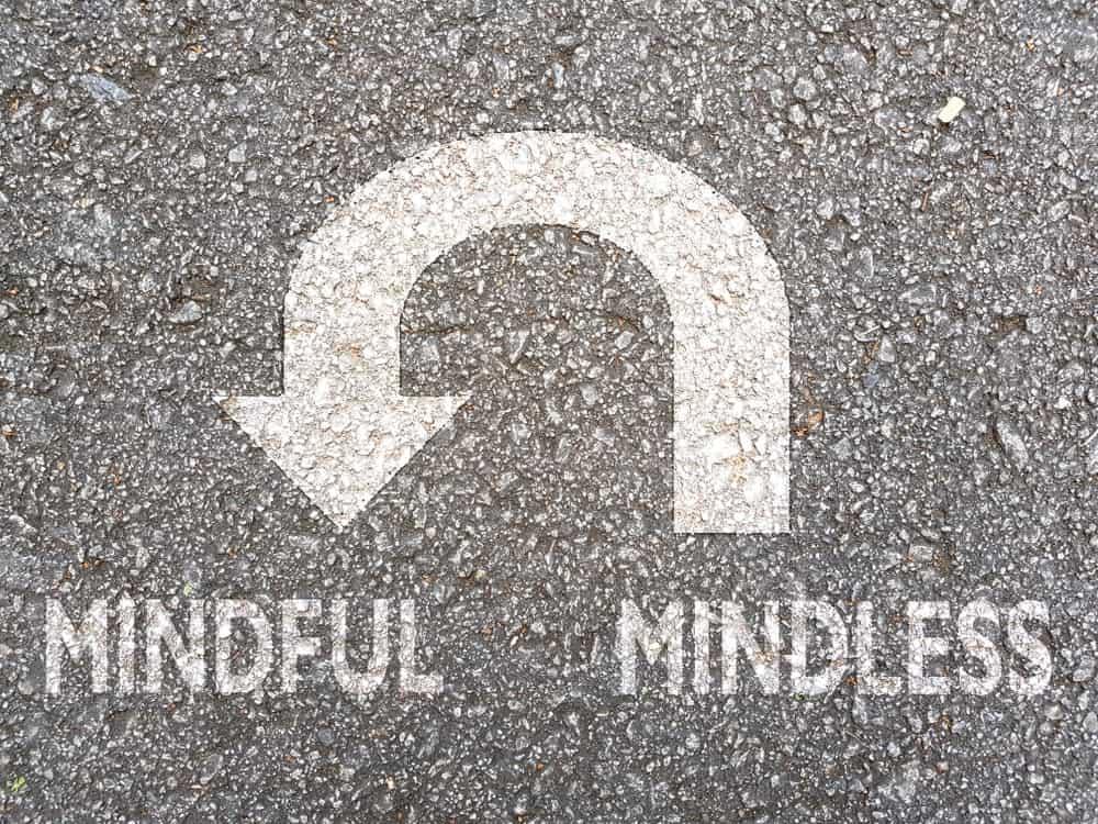 U-turn from mindlessness to mindfulness.