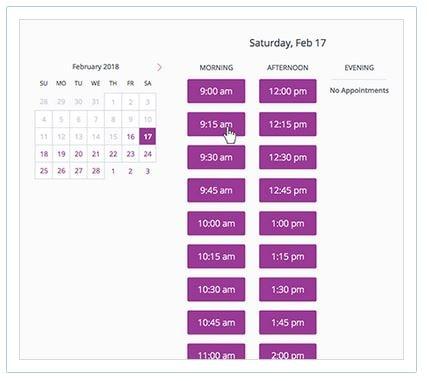 Screenshot of MINDBODY Software Scheduling