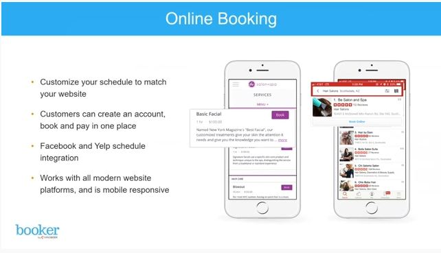 Screenshot of MINDBODY Software Online Booking