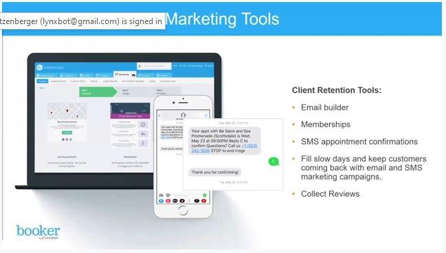 Screenshot of MINDBODY Software Marketing Tools