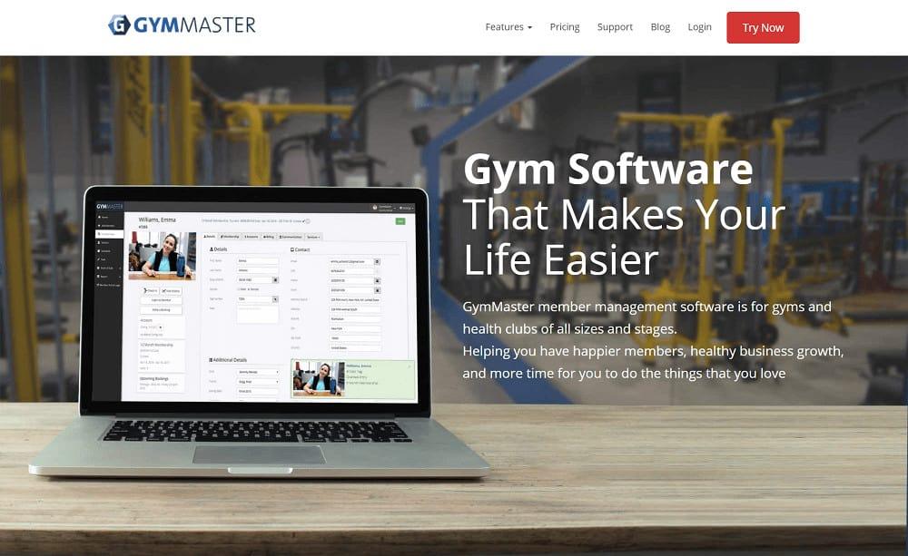 GymMaster homepage