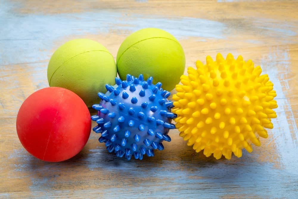 A variety of different massage balls.