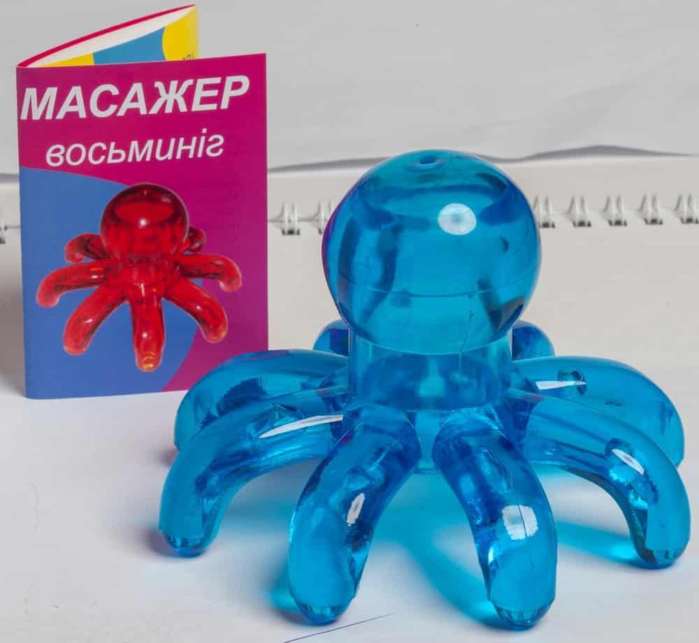 A blue octopus massager.