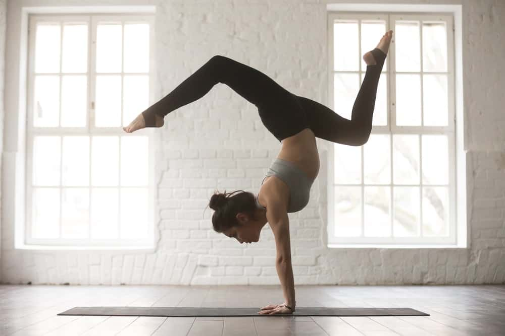 A woman doing Kripalu Yoga at a studio.