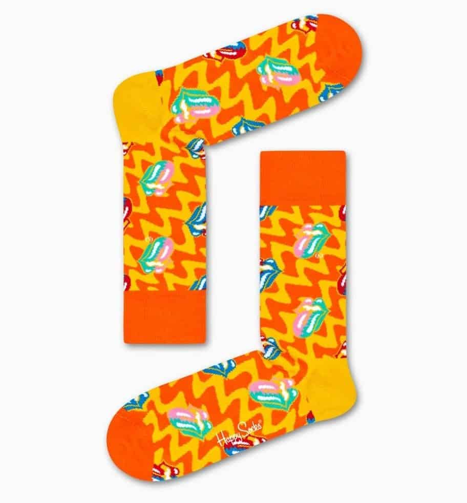 Socks in cheerful and colorful pattern.