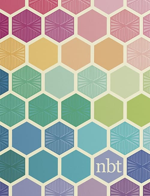 Multicolored hexagon yearly planner