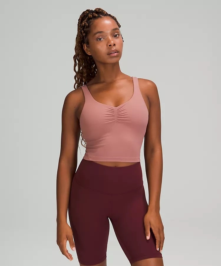 An Align™ Gathered-Front Tank Top in Spiced Chai from Lululemon.