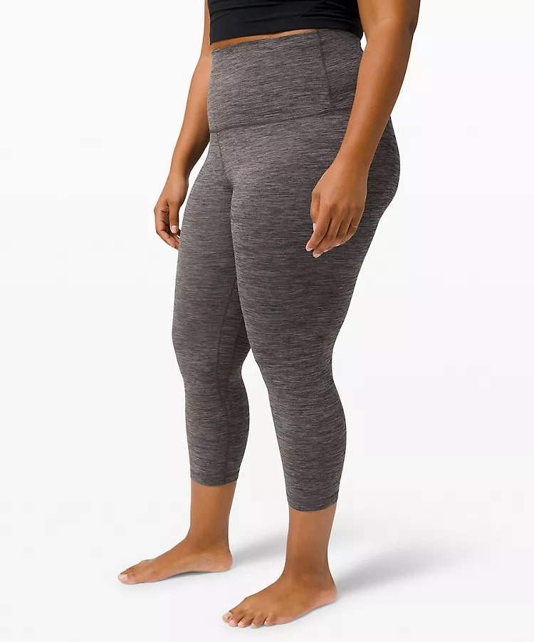 A Align™ Super-High-Rise Crop in Heathered Black from Lululemon.