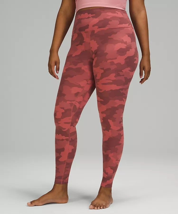 A Heritage 365 Camo Brier Rose Multi Align™ High-Rise Pant from Lululemon.