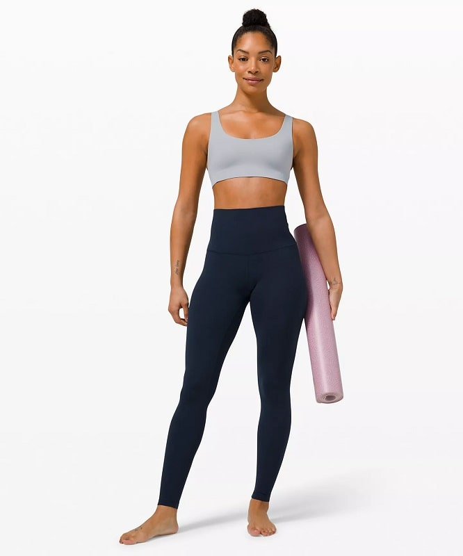 An Align™ Super-High-Rise Pant in True Navy from Lululemon.