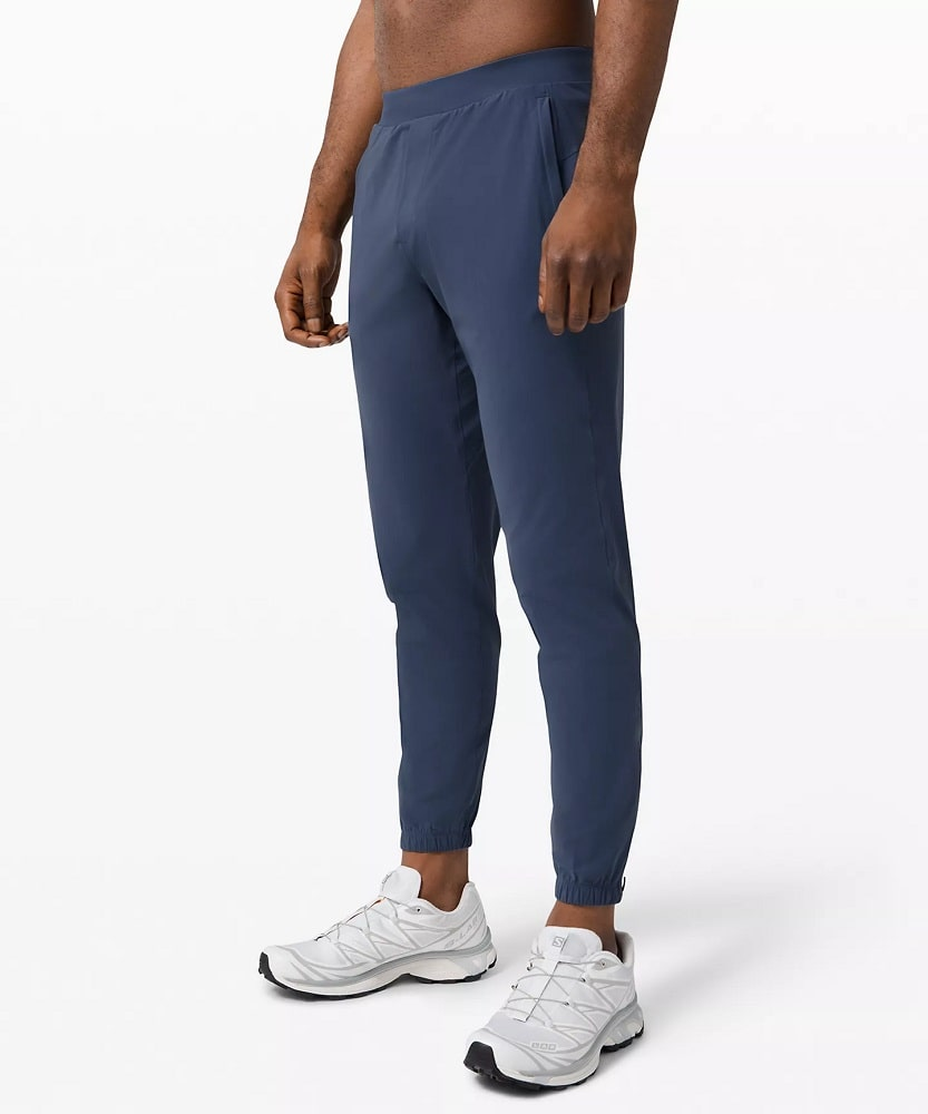 A Surge Jogger Shorter in Iron Blue from Lululemon.