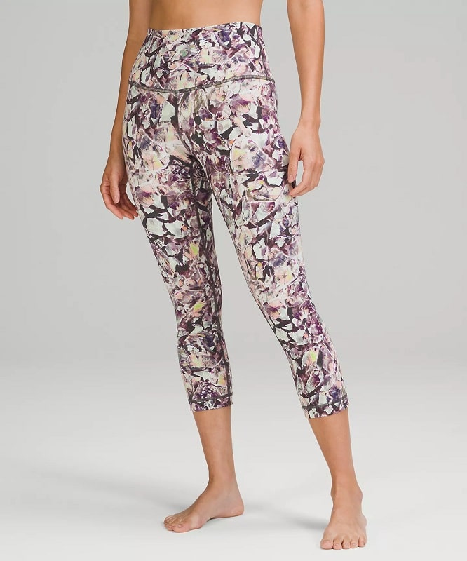A Wunder Under High-Rise Crop Luxtreme in Terazzo Glaze Multi from Lululemon.