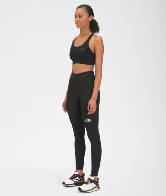 A Women's Movmynt Tight in black from Lucy Activewear (The North Face).
