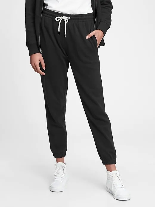 A pair of Vintage Soft Classic Joggers in True Black from GapFit.