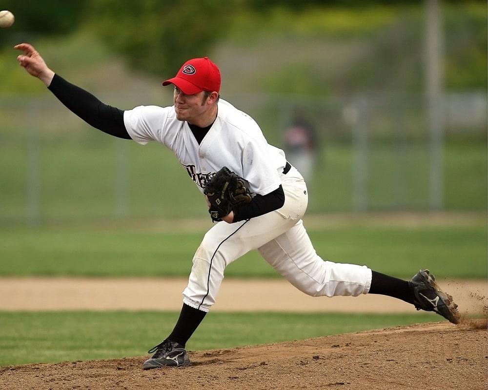 Male baseball player pitcher.